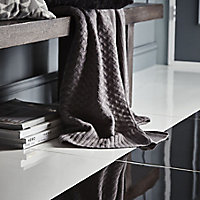 Latinie White Plain Porcelain Floor tile, (L)600mm (W)600mm, Sample