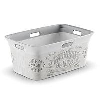 Laundry de luxe White & grey 45L Laundry basket (H)27cm (W)59cm (D)39cm