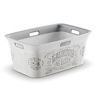 Laundry de luxe White & grey Basket (H)27cm (W)59cm