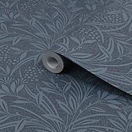 Laura Ashley Barley Dusky seaspray Leaf Smooth Wallpaper