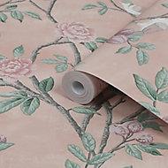 Laura Ashley Eglantine Blush Trail Smooth Wallpaper