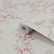 Laura Ashley Oriental Blush Blossom Smooth Wallpaper