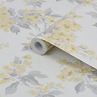 Laura Ashley Sunshine Apple blossom Smooth Wallpaper