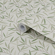 Laura Ashley Willow Hedgerow Leaf Smooth Wallpaper