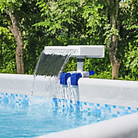 Lay-Z-Spa Blue & white ABS plastic & polypropylene Soothing LED Waterfall 16cm