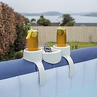 Lay-Z-Spa White Plastic Drinks holder