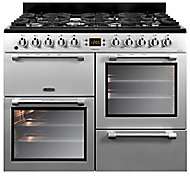 Leisure Cookmaster CK100F232S Freestanding Dual fuel Range cooker with Gas Hob