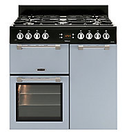 Leisure Cookmaster CK90F232B Freestanding Dual fuel Range cooker with Gas Hob