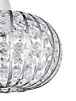 Leona Clear Beaded Light shade (D)270mm
