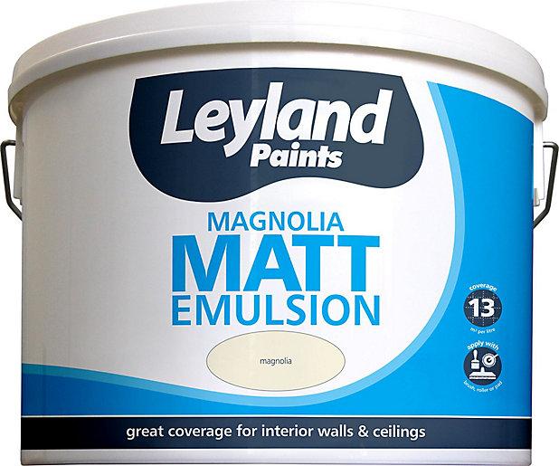 Leyland Magnolia Matt Emulsion Paint 10l Diy At B Q