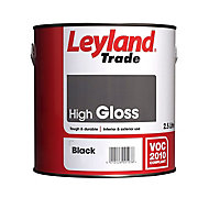 Leyland Trade Black Gloss Metal & wood paint, 2.5L