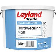 Leyland Trade Brilliant white Matt Emulsion paint, 10L