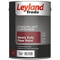 Leyland Trade Heavy duty Nimbus grey Satin Floor & tile paint, 5L