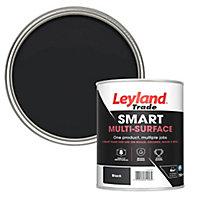 Leyland Trade Smart Black Mid sheen Multi-surface paint, 750ml