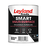 Leyland Trade Smart Brilliant white Mid sheen Multi-surface paint, 750ml