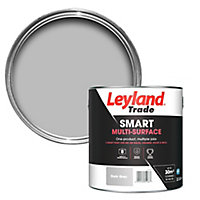 Leyland Trade Smart Dark grey Mid sheen Multi-surface paint, 2.5L