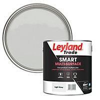 Leyland Trade Smart Light grey Mid sheen Multi-surface paint, 2.5L