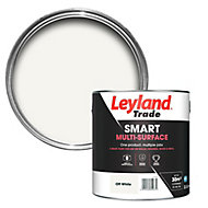Leyland Trade Smart Off white Mid sheen Multi-surface paint, 2.5L