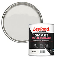 Leyland Trade Smart Off white Mid sheen Multi-surface paint, 750ml
