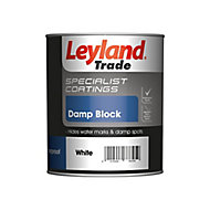 Leyland Trade Specialist coatings White Damp block paint, 0.75L