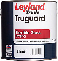 Leyland Trade Truguard Black Gloss Multi-surface paint, 2.5L
