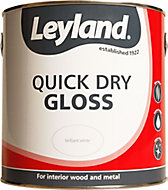 Leyland White Gloss Metal & wood paint, 2.5L