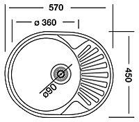 Liebig Satin Stainless steel 1 Bowl Sink & drainer