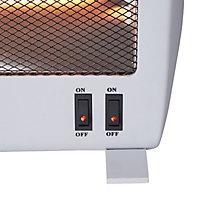 Light grey Freestanding Electric Quartz heater 1000W