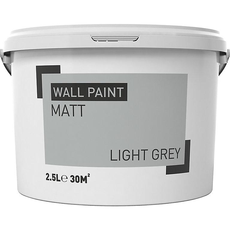 Light Grey Matt Emulsion Paint 2 5l Diy At B Q