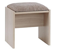 Lima Elm effect Dressing table stool (H)455mm (W)505mm (D)380mm