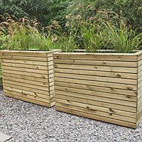 Linear Wooden Rectangular Planter 120cm
