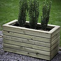 Linear Wooden Rectangular Planter 80cm