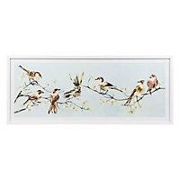 Little birdie White Framed print (H)430mm (W)1030mm