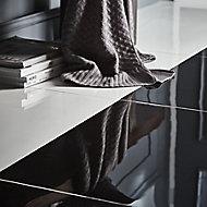 Livourne Black Plain Porcelain Floor tile, (L)600mm (W)600mm, Sample