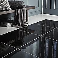 Livourne Black Plain Porcelain Tile Sample