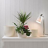 Loa Cream Ceramic Plant pot (Dia)33cm
