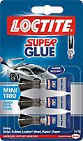 Loctite Mini trio Liquid Superglue 1g, Pack of 3