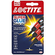 Loctite Powerflex mini trio Gel Superglue 3g, Pack of 3