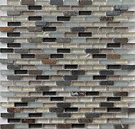 Lodi Beige Mosaic Glass Mosaic tile, (L)286mm (W)286mm