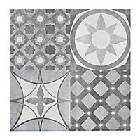 Lofthouse Grey Matt Plain Patchwork Stone effect Ceramic Floor tile, (L)300mm (W)300mm