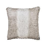 Lolite Faux fur Grey Cushion (L)45cm x (W)45cm