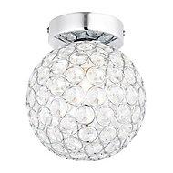 Lopez Chrome effect Bathroom Ceiling light