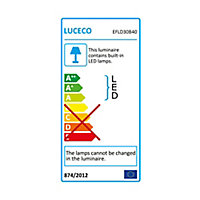 Luceco Black Mains-powered Cool white LED Floodlight 2400lm
