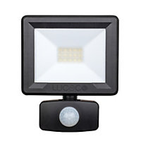 Luceco Black Mains-powered Cool white LED Floodlight 800lm