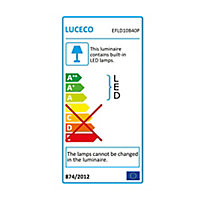 Luceco Black Mains-powered Cool white Outdoor LED PIR Floodlight 800lm