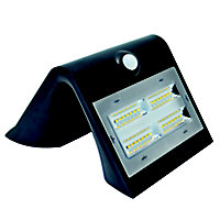 Luceco Black Solar-powered Cool white LED Floodlight 400lm