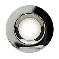 Luceco Chrome effect Non-adjustable Fire-rated Downlight IP20