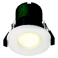 Luceco Matt White Non-adjustable LED Fire-rated Colour changing Downlight 6W IP65