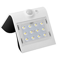 Luceco White Solar-powered Cool white LED Floodlight 220lm