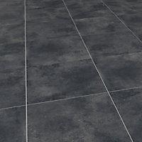 Luna Blue Matt Concrete effect Porcelain Outdoor Floor Tile, Pack of 2, (L)600mm (W)600mm